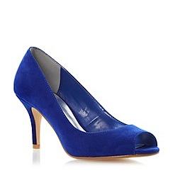 Roland Cartier - Blue peep toe court shoe