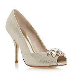 Roland Cartier - Metallic embellished peep toe court shoe