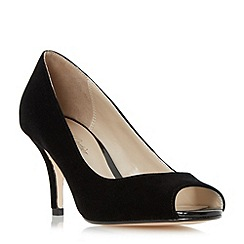 Roland Cartier - Black 'Dinice' peep toe mid heel court shoe