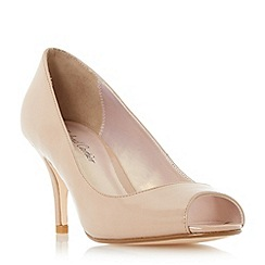 Roland Cartier - Natural 'Dinice' peep toe mid heel court shoe