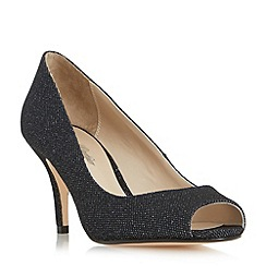 Roland Cartier - Navy 'Dinice' peep toe mid heel court shoe