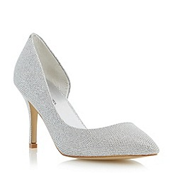 Roland Cartier - Metallic lurex semi d'orsay pointed toe court shoe