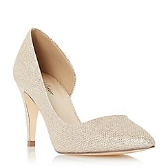Roland Cartier - Gold 'Delarna' semi d orsay  court shoe