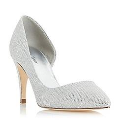 Roland Cartier - Silver 'Delarna' semi d orsay  court shoe