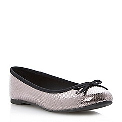 Roberto Vianni - Pewter metallic ballerina shoe