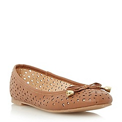 Roberto Vianni - Brown perforated ballerina shoe