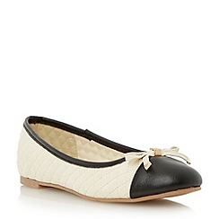 Roberto Vianni - Neutral bow trim quilted ballerina