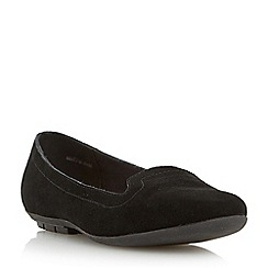 Roberto Vianni - Black rubber sole suede slipper flat