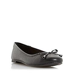 Roberto Vianni - Black 'Harva' snake embossed ballerina shoe