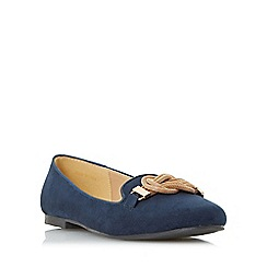 Roberto Vianni - Navy 'Hazle' snake chain trim slipper cut shoe