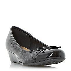 Roberto Vianni - Black 'Hatrin' wedge heel ballerina shoe