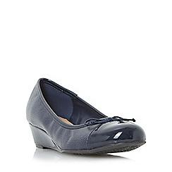 Roberto Vianni - Navy 'Hatrin' wedge heel ballerina shoe