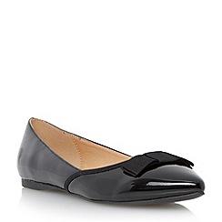 Roberto Vianni - Black pointed toe bow detail flat shoe