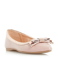 Roberto Vianni - Natural 'Hidi' pointed toe bow trim ballerina