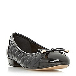Roberto Vianni - Black 'Hyland' quilted ballerina shoe