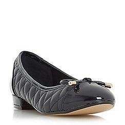 Roberto Vianni - Navy 'Hyland' quilted ballerina shoe