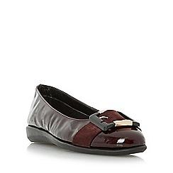 Roberto Vianni - Maroon 'Horton' comfort buckle detail ballerina shoe