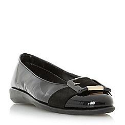 Roberto Vianni - Black 'Horton' comfort buckle detail ballerina shoe