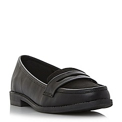 Roberto Vianni - Black 'Genola' mixed material penny loafer