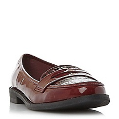Roberto Vianni - Maroon 'Genola' mixed material penny loafer
