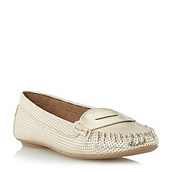 Roberto Vianni - Metallic perforated penny loafer