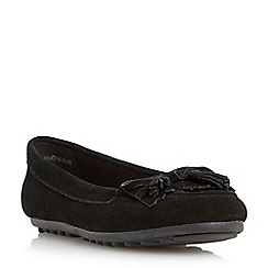 Roberto Vianni - Black cleated sole suede tassel loafer