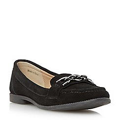 Roberto Vianni - Black suede trim chain detail loafer