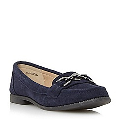 Roberto Vianni - Navy 'Goldthorpe' suede trim chain detail loafer