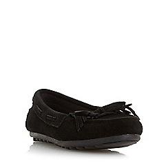 Roberto Vianni - Black 'Gallow' suede fringe moccasin shoe