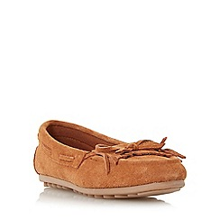 Roberto Vianni - Tan 'Gallow' suede fringe moccasin shoe