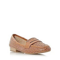 Roberto Vianni - Tan 'Gamble' penny saddle laser cut loafer