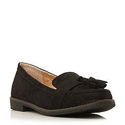 Roberto Vianni - Black 'Genova' tassel trim loafer