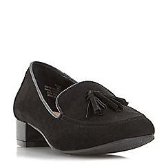 Roberto Vianni - Black 'Gullan' tassel trim loafer shoe