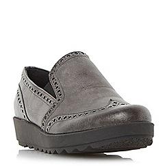 Roberto Vianni - Black 'Gibeen' comfort flatform brogue shoe