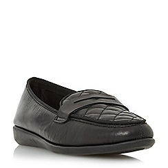 Roberto Vianni - Silver 'Gizella' comfort quilted penny loafer shoe