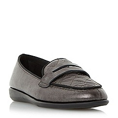 Roberto Vianni - Black 'Gizella' comfort quilted penny loafer shoe