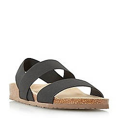 Roberto Vianni - Black 'Lavinder' elasticated strap footbed sandal