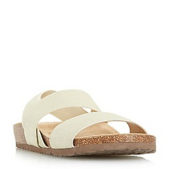Roberto Vianni - Gold 'Lavinder' elasticated strap footbed sandal