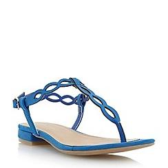 Roberto Vianni - Blue loop detail toe post flat sandal