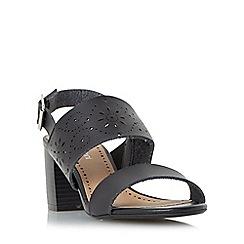 Roberto Vianni - Black 'Julianne' laser cut block heel sandal