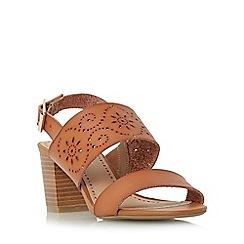 Roberto Vianni - Tan 'Julianne' laser cut block heel sandal