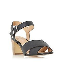 Roberto Vianni - Black 'Jersie' cross strap mid heel sandal