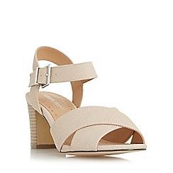 Roberto Vianni - Natural 'Jersie' cross strap mid heel sandal