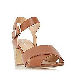 Roberto Vianni - Tan 'Jersie' cross strap mid heel sandal