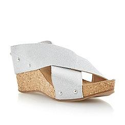 Roberto Vianni - Silver elastic strap wedge sandal