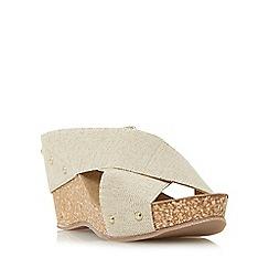Roberto Vianni - Gold 'Geordie' elastic strap wedge sandal