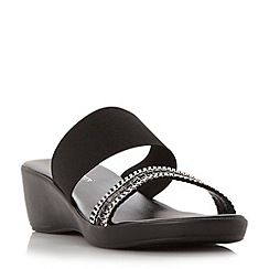 Roberto Vianni - Black 'Kiavanna' diamante strap wedge sandal