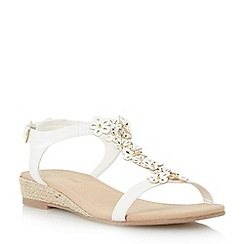 Roberto Vianni - Neutral embellished flower sandal