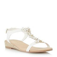 Roberto Vianni - Neutral embellished flower sandal