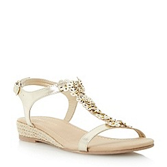 Roberto Vianni - Metallic embellished flower sandal